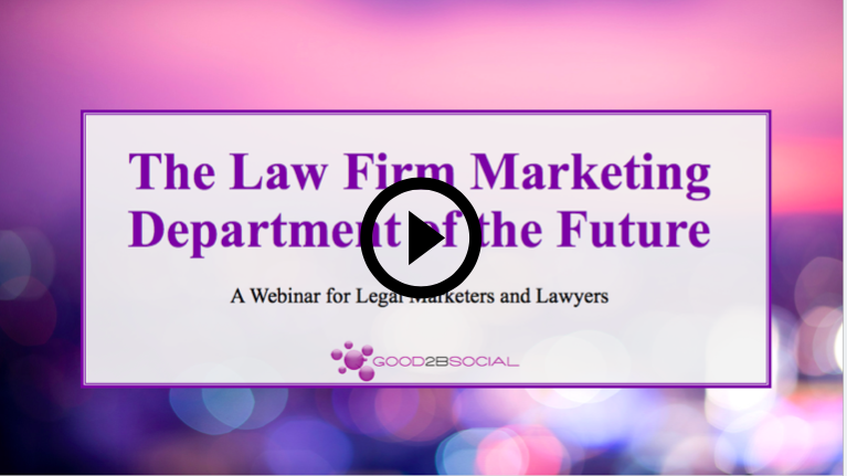 law firm marketing department of the future